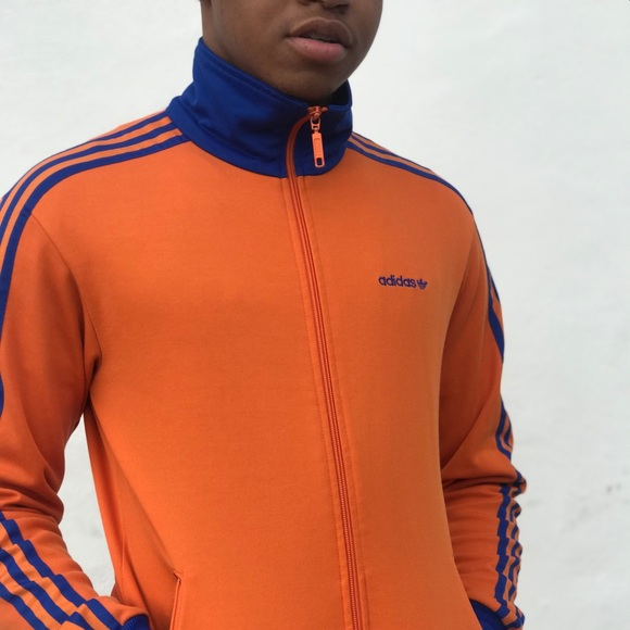 Vintage look Adidas faux leather track jacket Great Depop